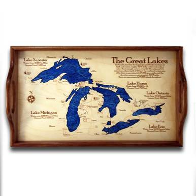Wooden Serving Tray - Great Lakes