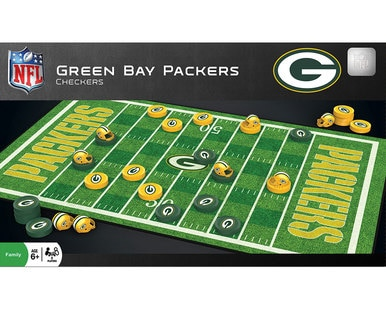 Checkers Game - Green Bay Packers