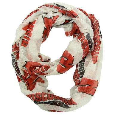 Wisconsin Badgers Sheer Infinity Scarf