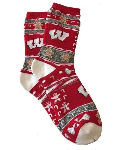 Wisconsin Badgers Ugly Holiday Socks