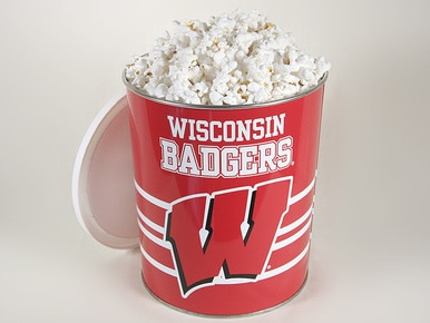 Wisconsin Badgers Popcorn Gift Tin - 1 Gallon